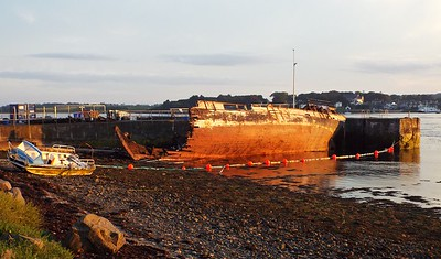 Breaking up the wreck during July 2017. Pictured by Michelle.