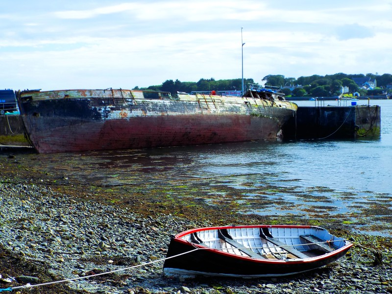 Old wreck at Portaferry Quay, County Down.<br /> Saturday, 1st July 2017.<br /> Pictured by Michelle.