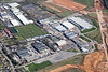 Aerial photo of Hucknall airfield.