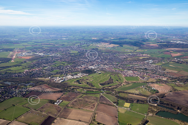 Aerial photo of Hucknall.