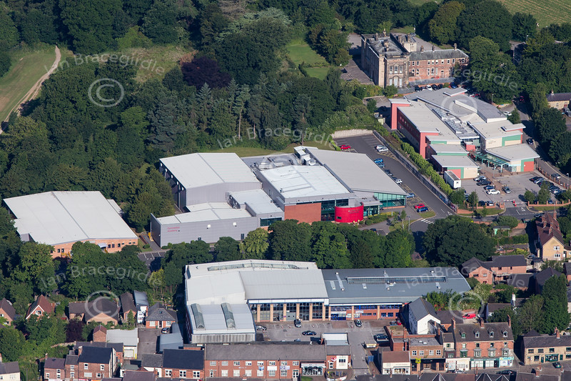 Aerial photo of Alfreton in Derbyshire.