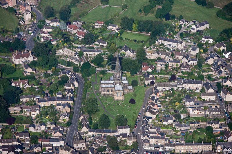 Aerial photo of Bakewell.