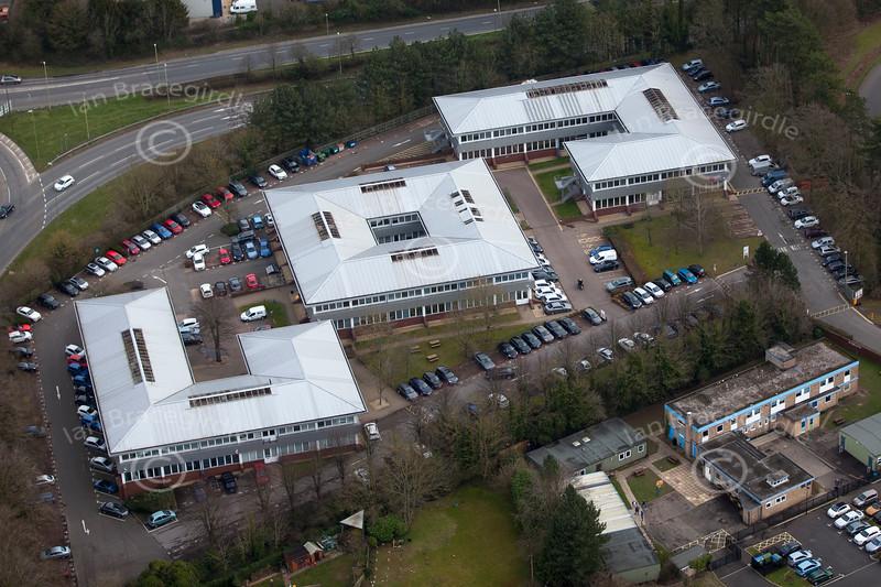 Aerial photo of Basingstoke.