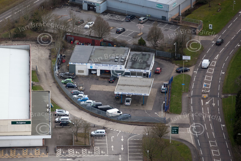 Aerial photo of Basingstoke.
