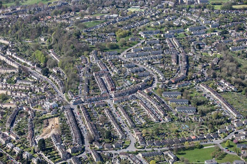 An aerial photo of Bath.