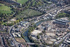 An aerial photo of Bath