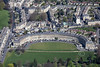 Aerial photo of The Royal Crescent.