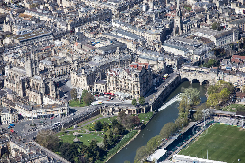 Grand Parade in Bath from the air.