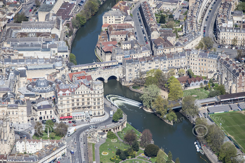 Bath from the air.
