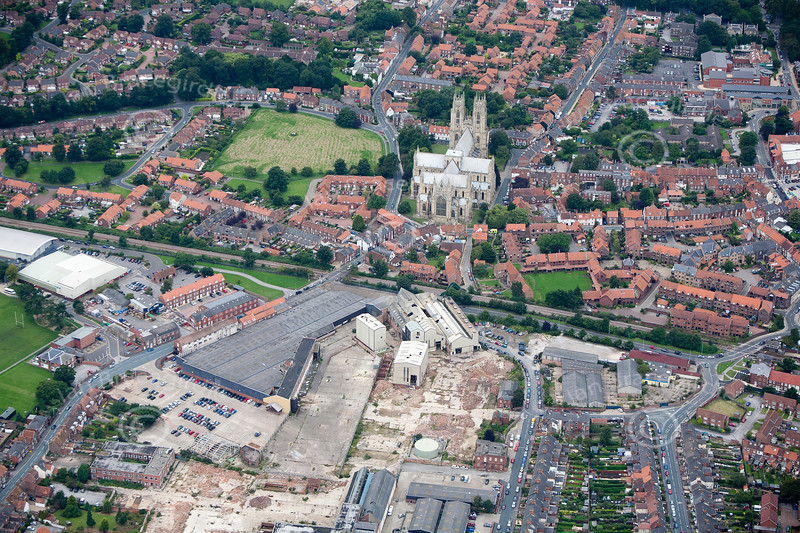 Aerial photo of Beverley.
