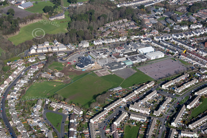 Aerial photo of Bideford in Devon.