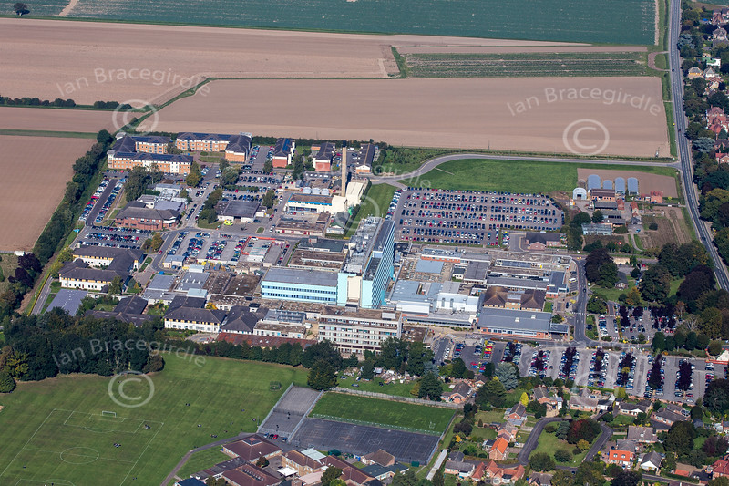 Aerial photo of Boston in Lincolnshire.