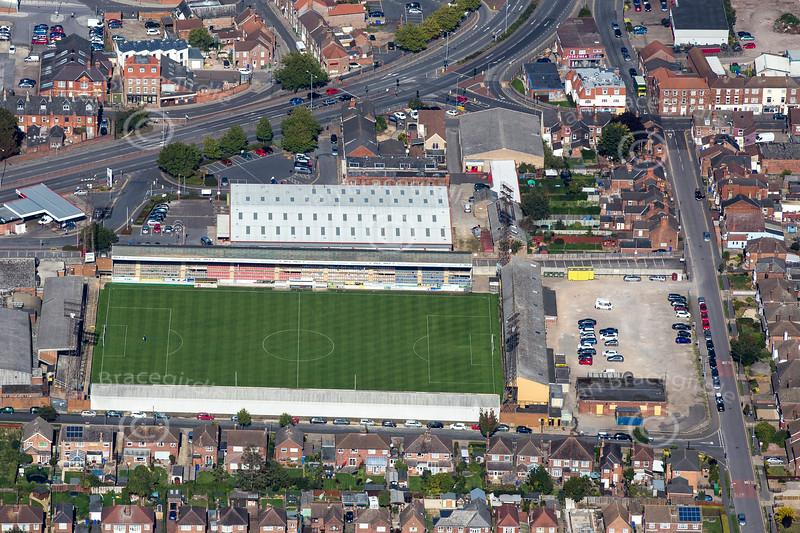 Aerial photo of Boston Football Ground.