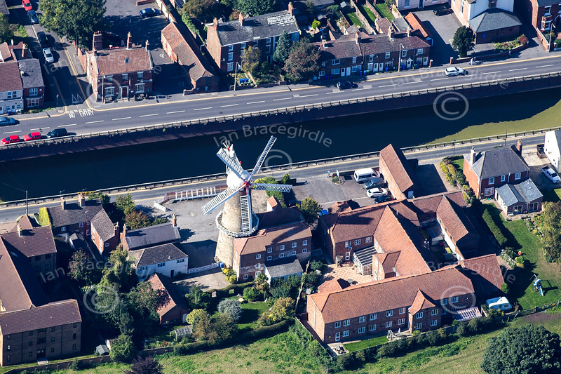 Aerial photo of Maud Foster Windmill.