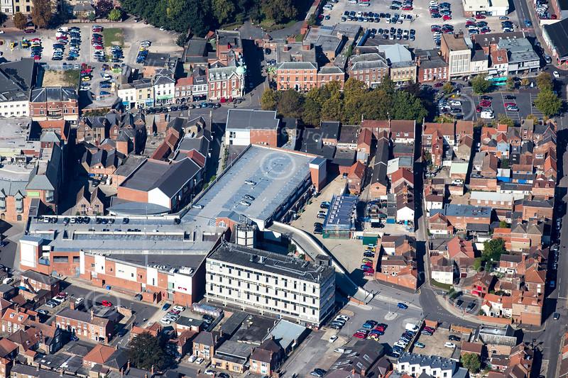 Aerial photo of Boston in Lincolnshire.