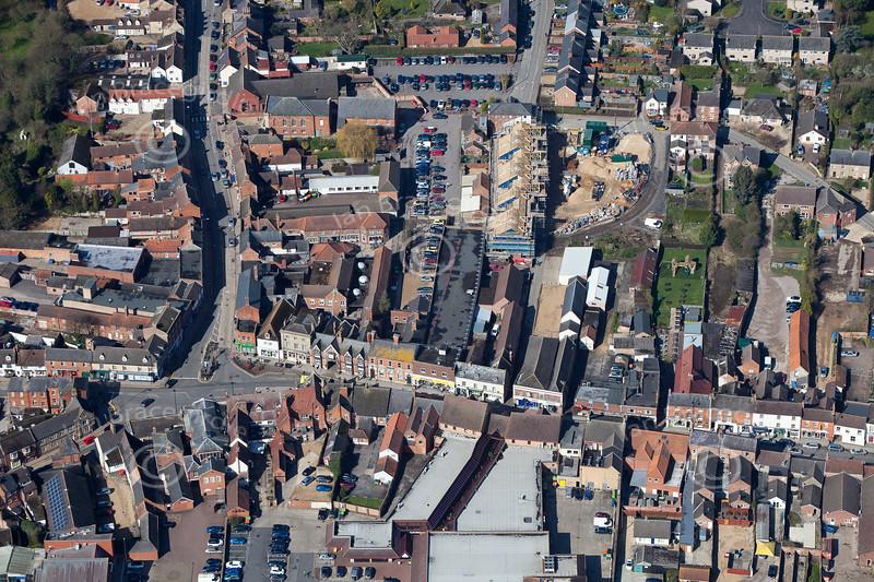 Aerial photo of Bourne.