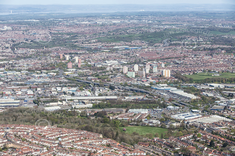 Bristol from the air.