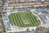 Gloucestershire County Cricket Club from the air.