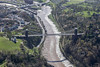 Aerial photo of The Clifton Suspension Bridge.