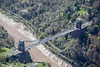 An aerial photo of The Clifton Suspension Bridge in Bristol.