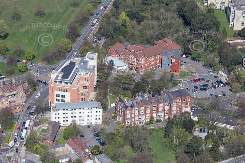 An aerial photo of Bristol.