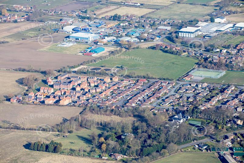 Aerial photos of Caistor.
