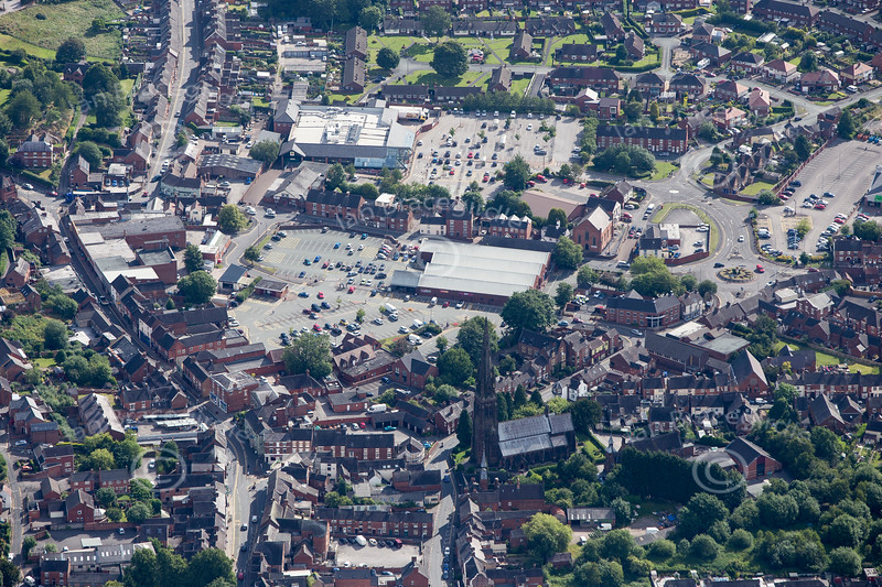 Cheadle from the air