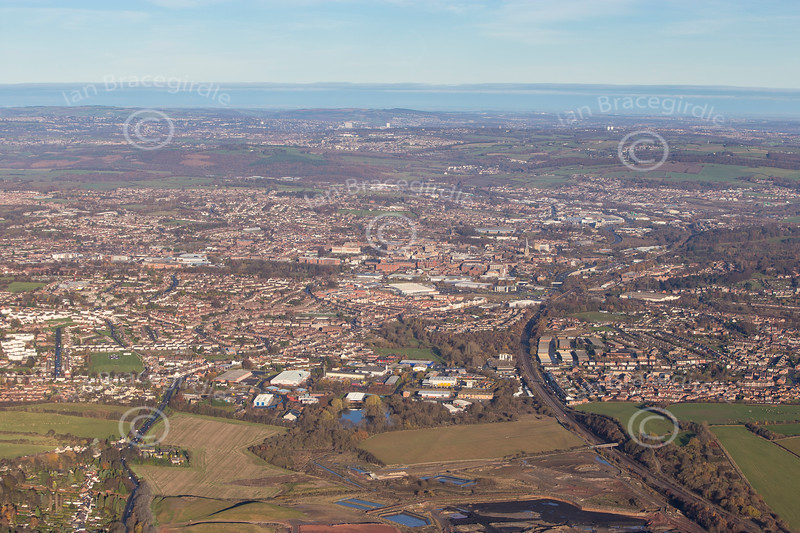 Chesterfield from the air.