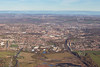 Aerial photo of Chesterfield, Derbyshire.