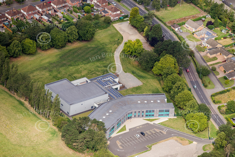 Aerial photos of Corby in Nothamptonshire.