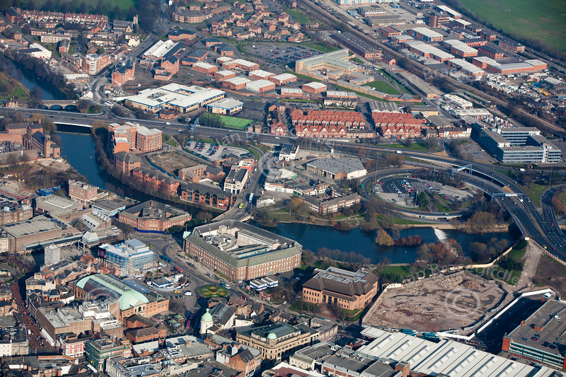Derby from the air.