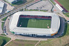 Aerial photo of Keepmoat Stadium.