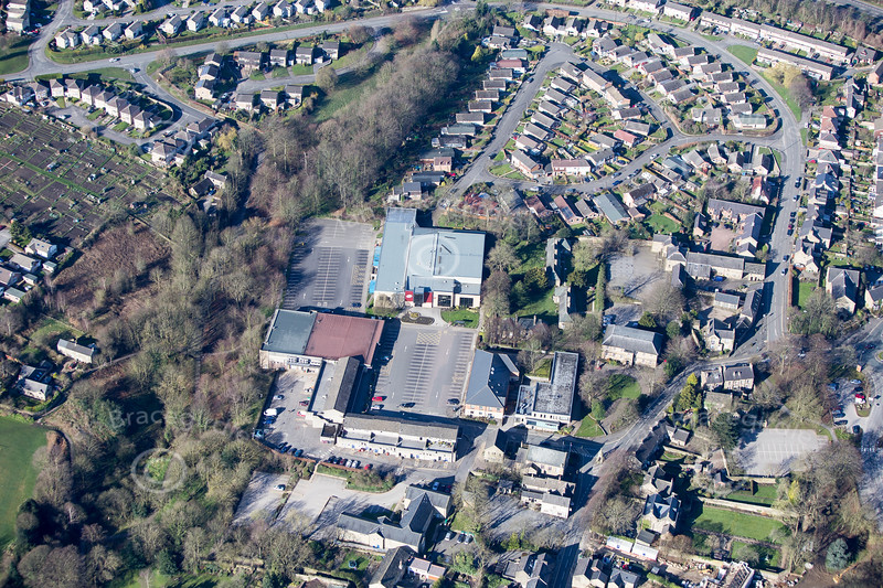 Dronfield from the air.