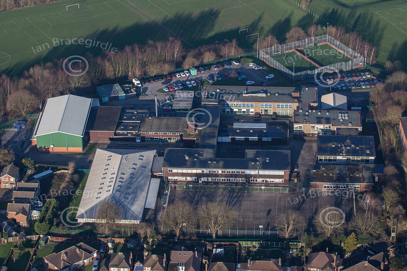 Aerial photo of Hall Park Academy in Eastwood.