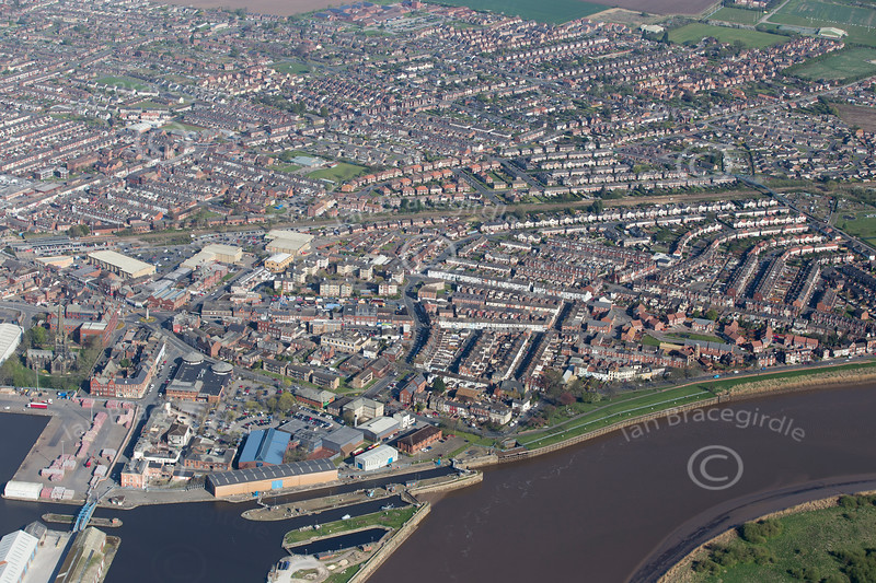 Aerial photo of Goole.