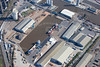 Aerial photo of Goole Docks.