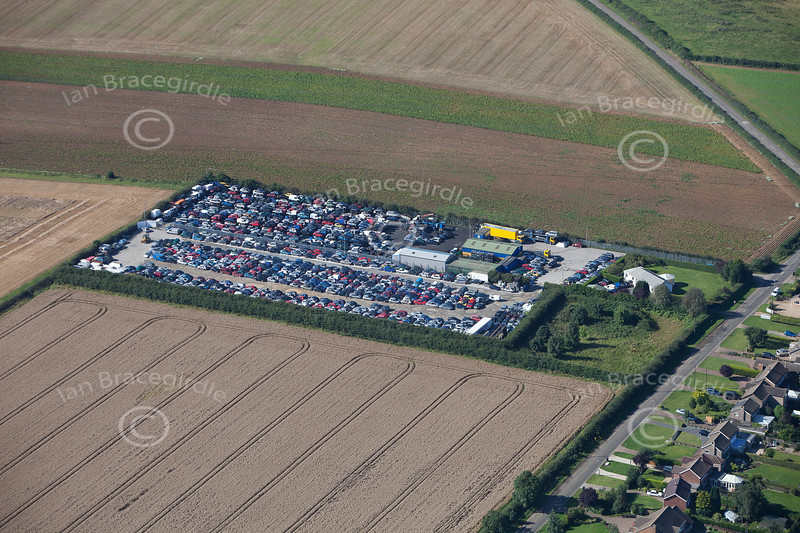 Grantham from the air.