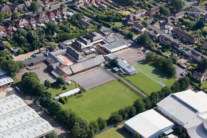 Aerial photo of Grantham in Lincolnshire.