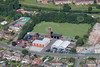 Grantham fire station from the air.