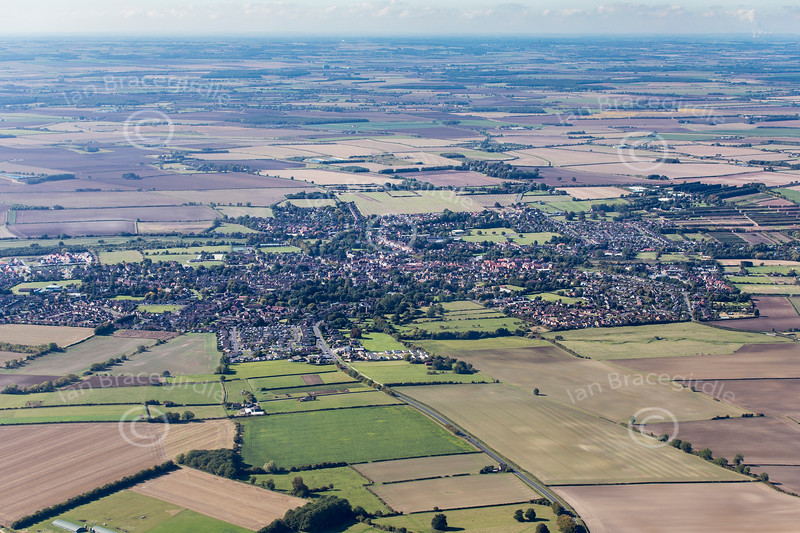 Aerial photo of Horncastle in Lincolnshire.