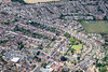 Aerial photo of Kettering in Northamptonshire.