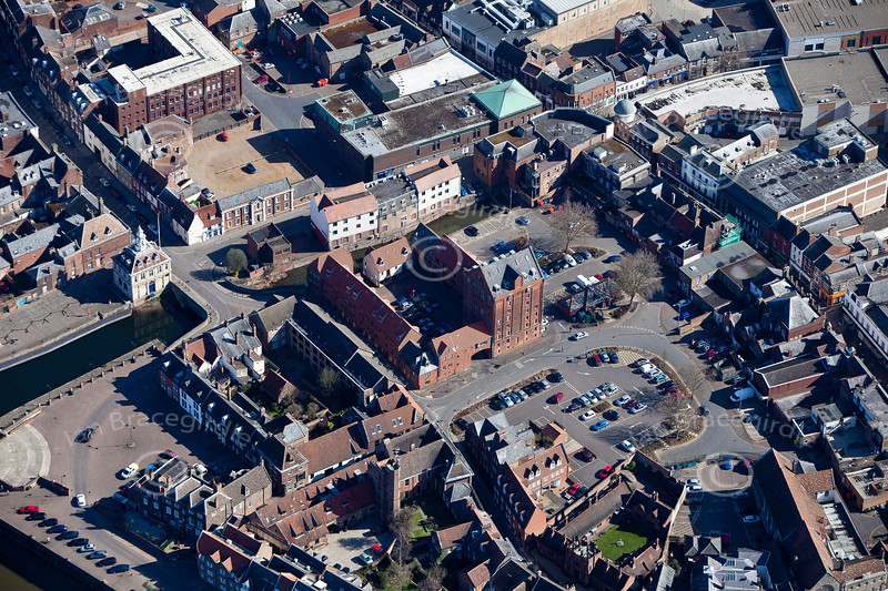 Kings Lynn from the air.