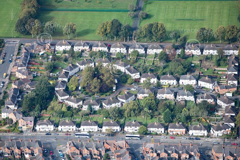 Aerial photo of Gaddesby Avenue.