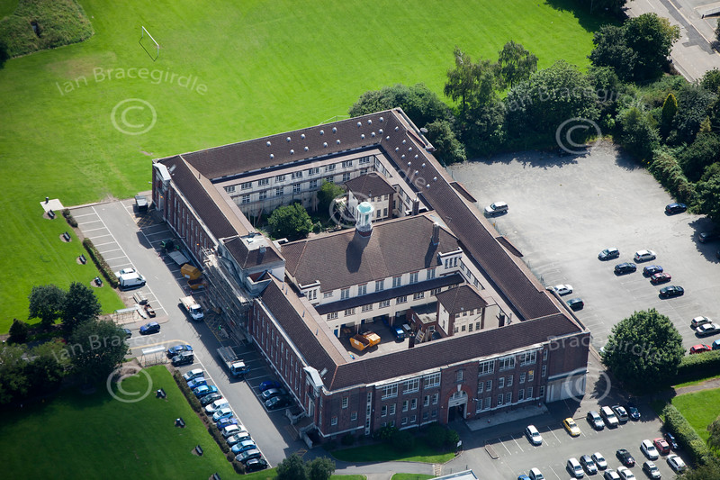 Aerial photo of Regent College in Leicester.