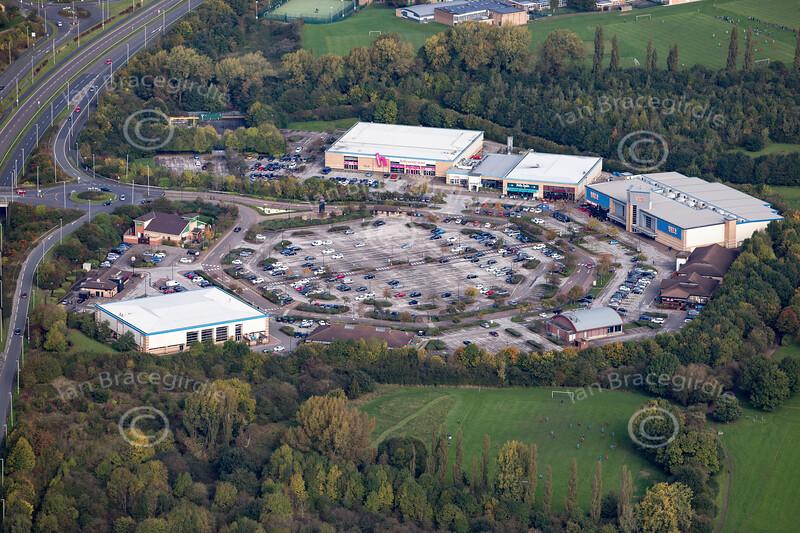 Aerial photo of Meridian Leisure Park.