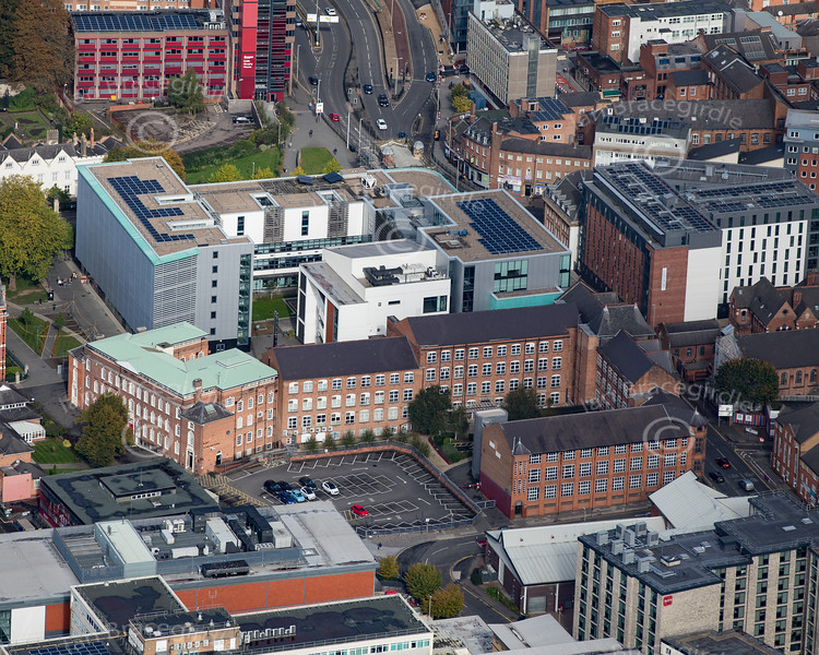 Aerial photo of Leicester Chamber of Commerce.