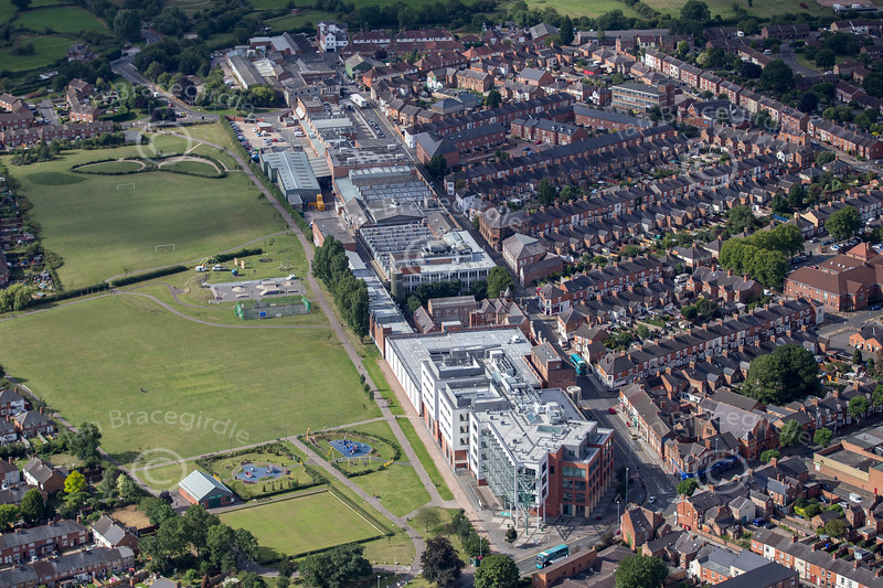 Aerial photo of South Leicestershire College.