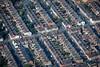 Aerial photo of Wilberforce Road in Leicester.