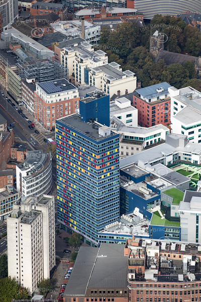 Aerial photo of Leicester Premier Inn.