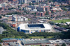 An aerial photo of the Kingpower Stadium.